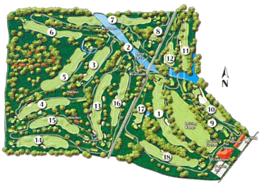 Miami Shores Course Layout Map